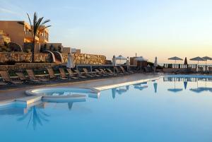 Vy från ett hotell på Kreta.