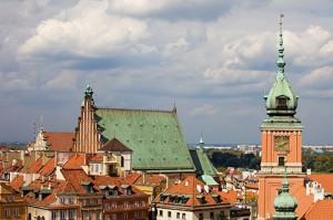 Vy från Gamla stan i Warszawa.