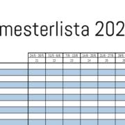 Gratis semesterlista för 2021